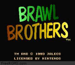 Brawl Brothers Title Screen